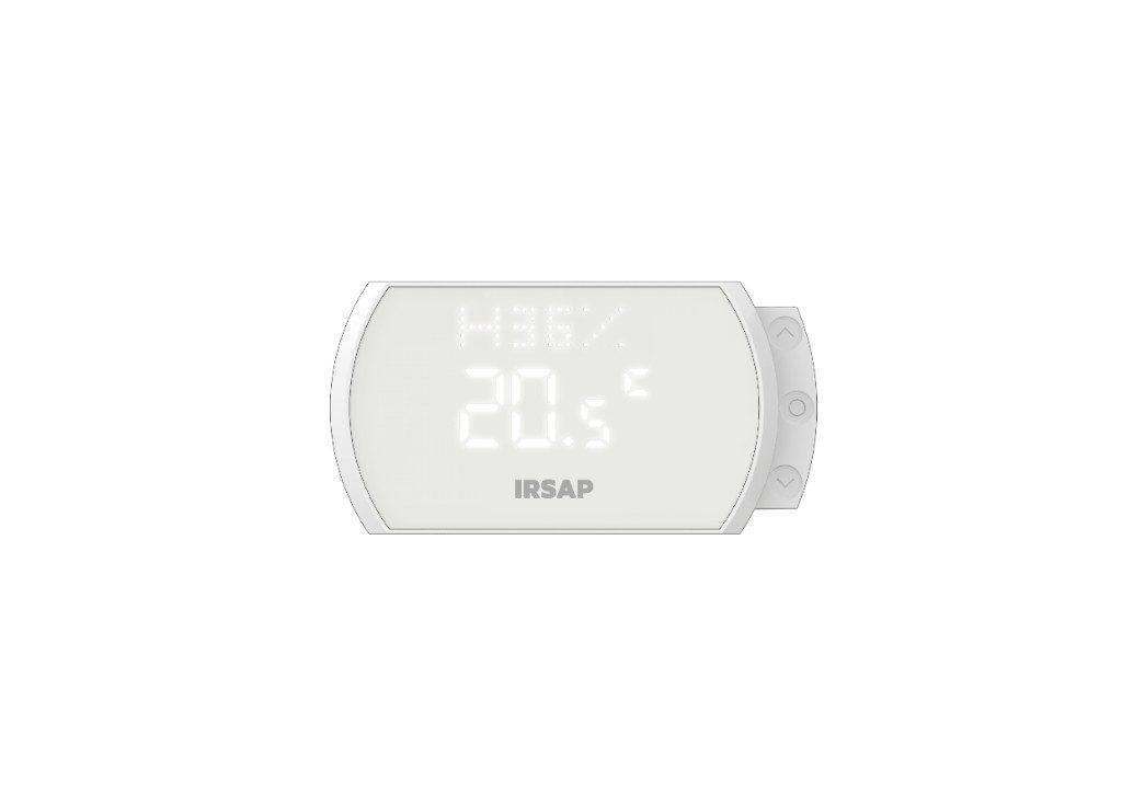 La percentuale mostrata indica invece l'umidità rilevata nell'ambiente in cui è posizionato lo Smart Thermostat. La lettera