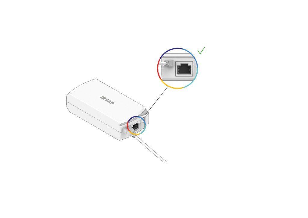 Collega il Repeater alla presa elettrica (Attenzione: non collegare la porta Ethernet!)
