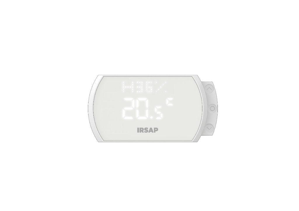 En cambio, el porcentaje que se muestra indica la humedad detectada en el entorno donde se coloca el termostato inteligente.  La letra