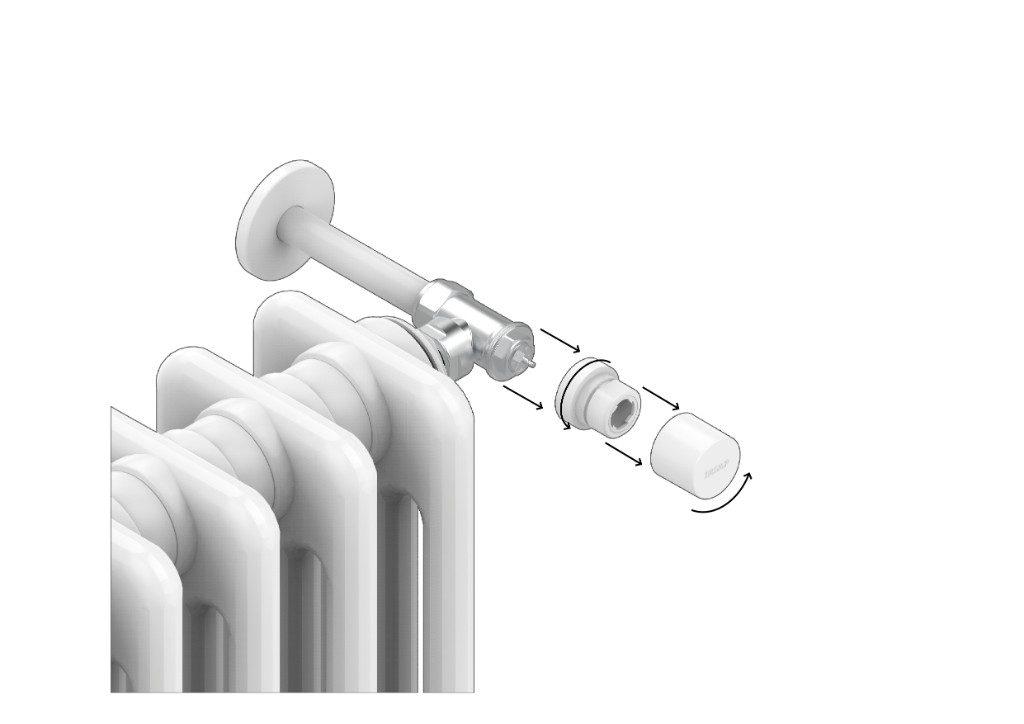 Para comprender si la válvula hidráulica de su radiador es termostática, puede consultar las siguientes imágenes: