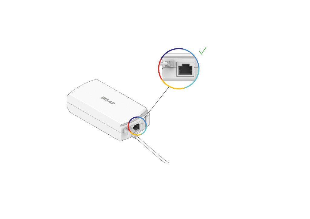 Conecte el repetidor a la toma de corriente (Advertencia: ¡no conecte el puerto Ethernet!)