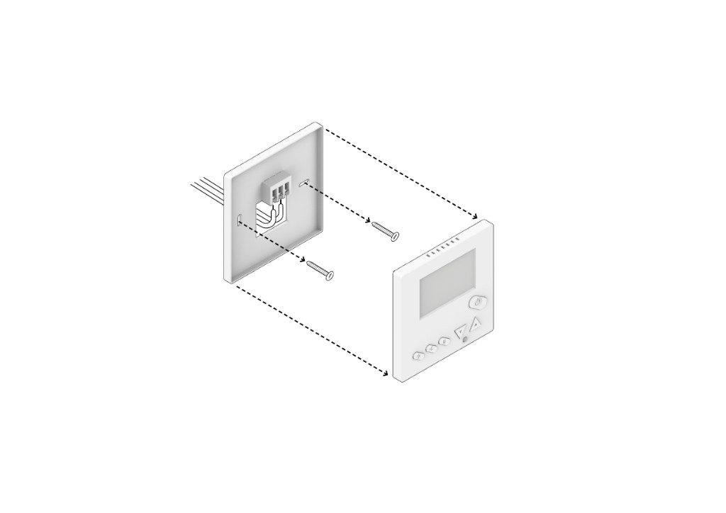 Retire el termostato anterior y recuerde tomar una foto de las conexiones presentes y marcar los cables