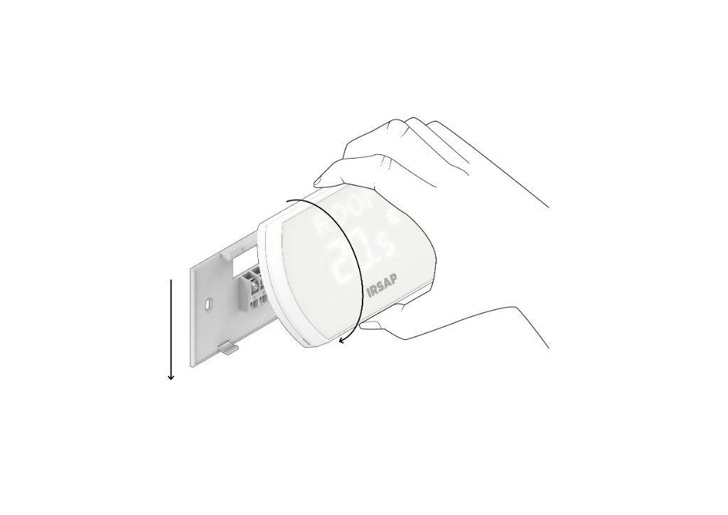 Conecte el termostato inteligente a la cubierta trasera